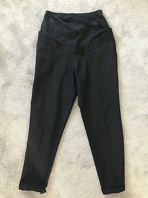 Over Bump Maternity Trousers Black Size 10 New Look