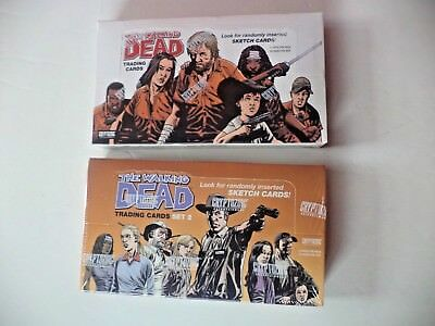 The Walking Dead Trading Cards Set 1 & 2 Cryptozoic Sealed Boxes Brand NEW!