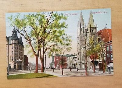 Divided back postcard, Broad Street, Newark, New Jersey