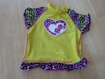 Girls Size 0 Mini Mango Rashie Top  - Swimwear