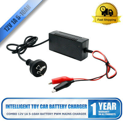 12V 1A Lead-acid Battery Chargers Motorcycle E-bike Charger DC/crocodile clip