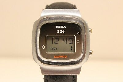 """Vintage Rare Early Collectible France Digital Men's Watch """"Yema"""" 924"""