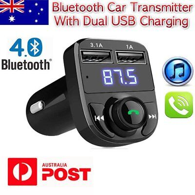 Bluetooth FM Transmitter Radio LCD Car USB Charger Wireless MP3 Hansfree Player