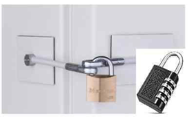 Refrigerator Lock Kit with Combination Lock, New