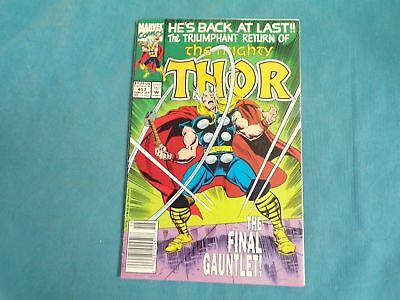 Comic Book Marvel Comics The Mighty Thor The Final Gauntlet Early Jan 1993 #457