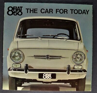 1965-1966 Fiat 850 Catalog Sales Brochure Excellent Original