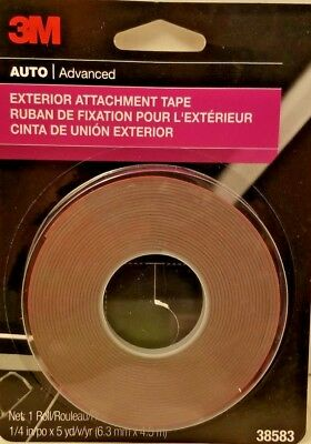 """New 3M 1/4"""" Super Strength Moulding Tape Body Repair Double Side Adhesive 38583"""