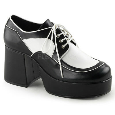 PIN UP By Pleaser Cutiepie-14 Lace Up Spectator Oxford Shoes Distressed Effect