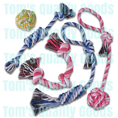 5 PACK Rope Chew Toys for Puppies Puppy Small Medium Dog Aggressive Chewers Lot