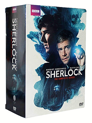 Sherlock: The Complete Series Seasons 1-4 + The Abominable Bride (9 Discs, DVD)
