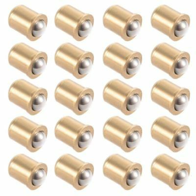 5mm Ball Dia Brass Electroplating Door Cabinet Ball Catch Latch Closures 20 F5I4