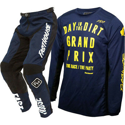 NEW Fasthouse MX LE 2018 Day In The Dirt Jersey Pants Navy Motocross Gear Set