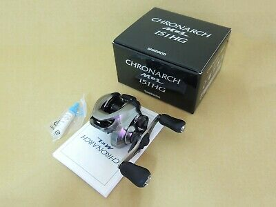 BUNDLE-SHIMANO CHRONARCH MGL 151 6.2:1 LEFT HAND BAITCAST REEL HAT