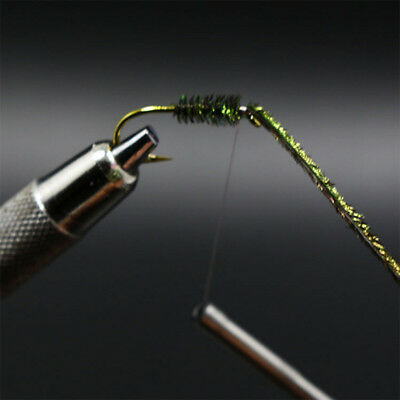 200pcs/bag Peacock Herl Feather Wire Fly Fishing Natural Green Olive Nymph Flute