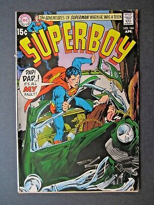 """SUPERBOY 164 April 1970, Neal Adams Cover - """"Dad! Dad..! It's All MY Fault!"""