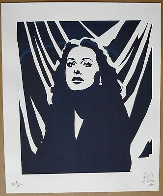 Pure Evil Hedy Lamarr Screen Print Charles Uzzell-Edwards