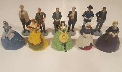 GONE WITH THE WIND Franklin Mint Sculpture Collection 11 Figurines 1989-1990