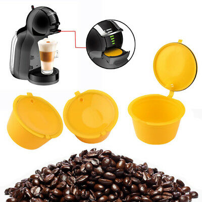3Pcs Reusable Coffee Capsules Cup Filter Stainless Steel for Dolce Gusto Intrigu