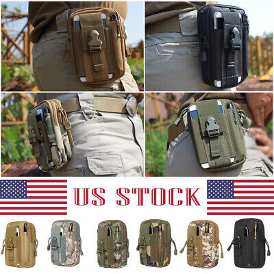 New Military Tactical Outdoor Bag Waist Belt Pack Molle Pouch Fanny Phone Pocket
