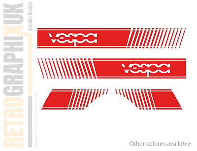 RED Stripe Style Stickers VESPA Fit Vespa PX & LML Side panels Scooter graphics