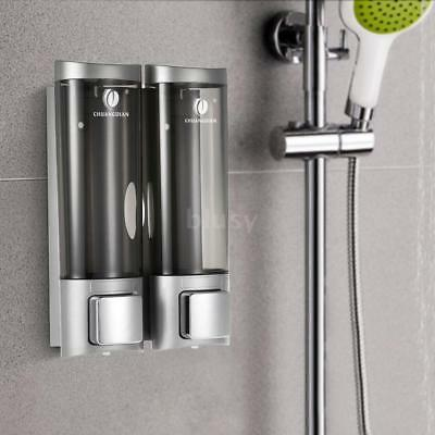Wall Mounted Bathroom Soap Shampoo Shower Gel Dispenser Pump Storage Unit R0N3
