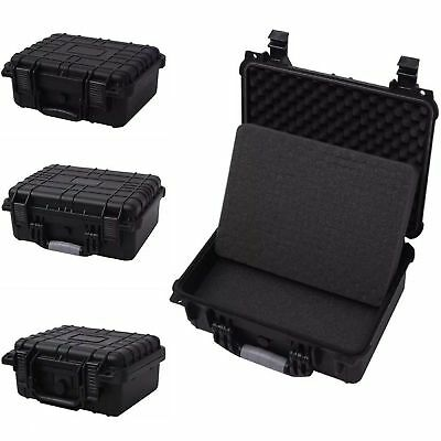 Protective Equipment Hard Carry Case Plastic Box Camera Removable Protect Black