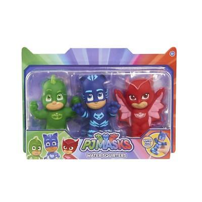 PJ Masks Childrens Bath Toy Water Squirters Figures Set of 3