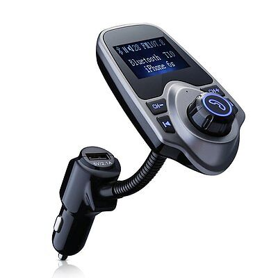 """1.44"""" Wireless Bluetooth In Car FM Transmitter USB Charger Handsfree MP3 Player"""