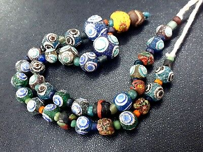 Mixed Authentic Ancient Roman Islamic Glass EYE Bead 250BC-650AD Fine Condition