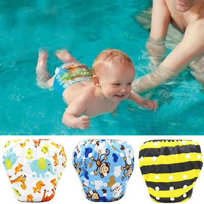 Swim Nappy Adjustable Reusable Pant Diaper Baby Girl Boy Toddler Kids Swimmer