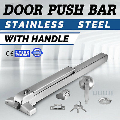65cm Door Push Bar Panic Exit Device Lock With Handle Emergency Hardware Fast OY