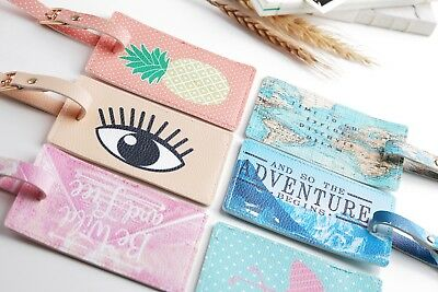 Cute Printing Passport Cover Luggage Tag Suitcase Label Address ID Holiday Tags#