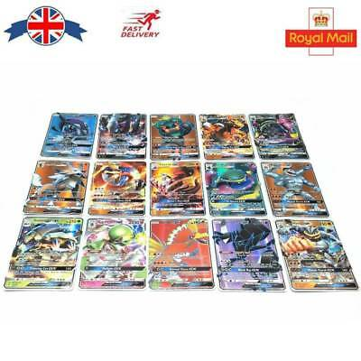 20Pcs New Pokemon TCG GX Rare Crads Holo Flash Trading Cards Collectible Gift UK