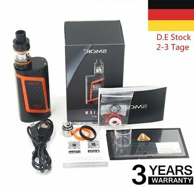Smok Alien Full Kit 220W TFV8 Baby Tank E Zigarette E Shisha Orange H5 DHL