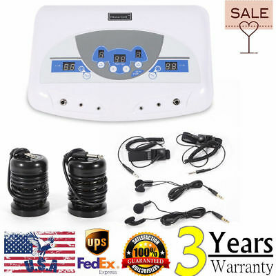 Dual Chi Ionic Ion Detox Machine Foot Bath Cell Aqua Spa Cleanse Music Mp3 Usa