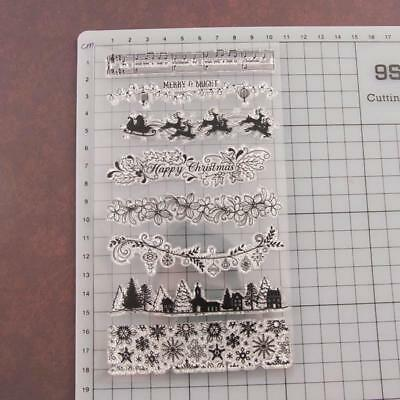 Diary Christmas Silicone Finished Chapter Stamp Flower Transparent Seal T1341