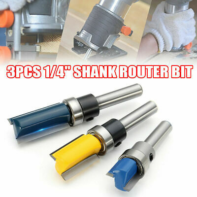 4X Round Over Edging Router Bit Set 1/4'' Shank 1/2'' 3/8'' 1/4'' 1/8'' Radius