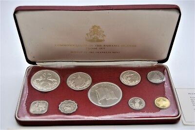 Commonwealth Of The Bahamas 1974 Proof Coin Set. Uncirculated.  Franklin Mint