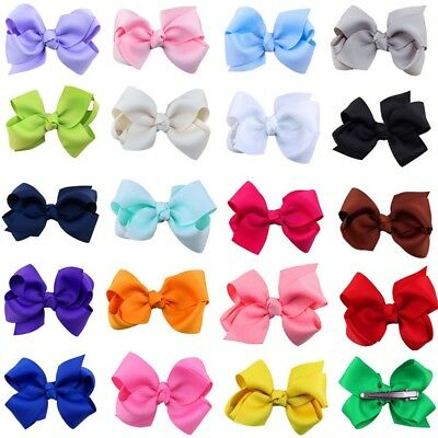 20/40pc LOT Baby Girls Big Hair Bows Alligator Hair Clips-Baby Girl Gift Set