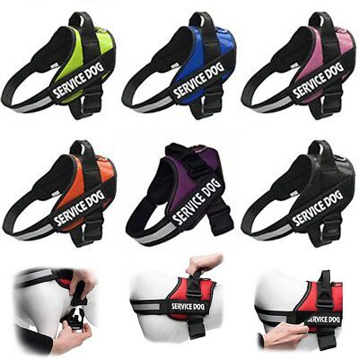 Strong Adjustable Power Pet Dog Harness Reflective Pet Puppy Harnesses XS-XXL AU