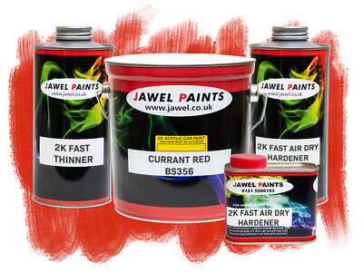 2k Acrylic Car Paint B/S 539 Currant Red  5 Litre Kit  Direct High Gloss