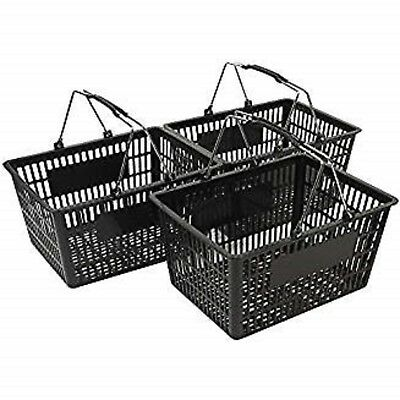 NEW Shopping Basket Set set of 3 black