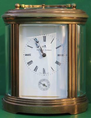 Mathew Norman Grande Oval 8 Day Swiss Carriage Clock