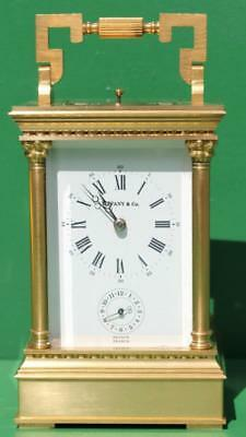 Tiffany & Co French 8 Day Repeater Grande Venitienne L'epee Carriage Alarm Clock