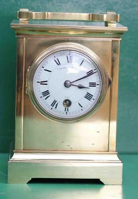 Extra Large Early French Antique 8 Day Carriage Clock Signed Collingwood & Sons