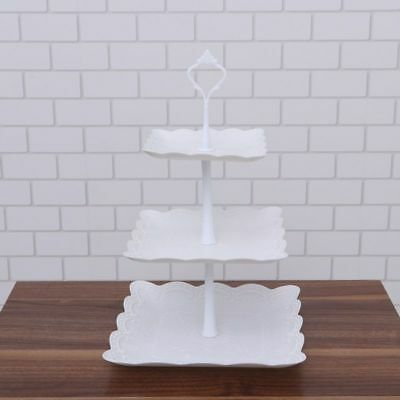 3 Tier Cake Cupcake Plate Stand Handle Hardware Fitting Holder Crown Wedding