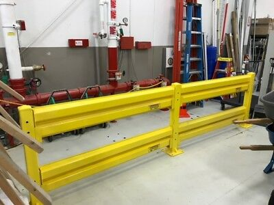 12' Protective Steel Guardrail Barrier | Double Rail | Upto 10,000Lb Impact!!