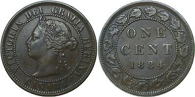 1884 1C Canada Large Cent Victoria Very Fine