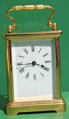 Antique French Couaillet Freres 8 Day Time Piece Corniche Carriage Clock