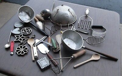 lot of 28 Vintage  Kitchen Tools Accessories